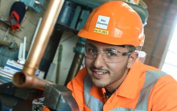 Award success for Teesport plumber Alex